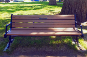 Linda Lundeen, Memorial Bench, Franklin Park, Alameda, California
