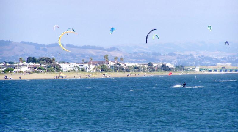 Alameda, California Ballena Bay looking toward Robert Crown Beach