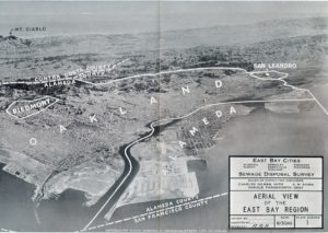 Alameda, California and East Bay Cities, Aerial View, 1941