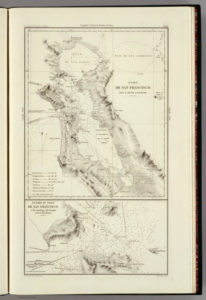 Alameda, California on Duflot Map 1844, 04