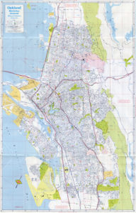 California State Automobile Association, Map of Oakland, Berkeley, Alameda, California, 1978