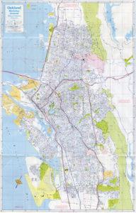 California State Automobile Association, Map of Oakland, Berkeley, Alameda, California, 1978