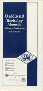 California State Automobile Association, Map of Oakland, Berkeley, Alameda, California, 1978, cover