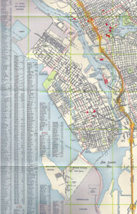 Chevron, Map of East Bay Cities showing Alameda, California, 1960