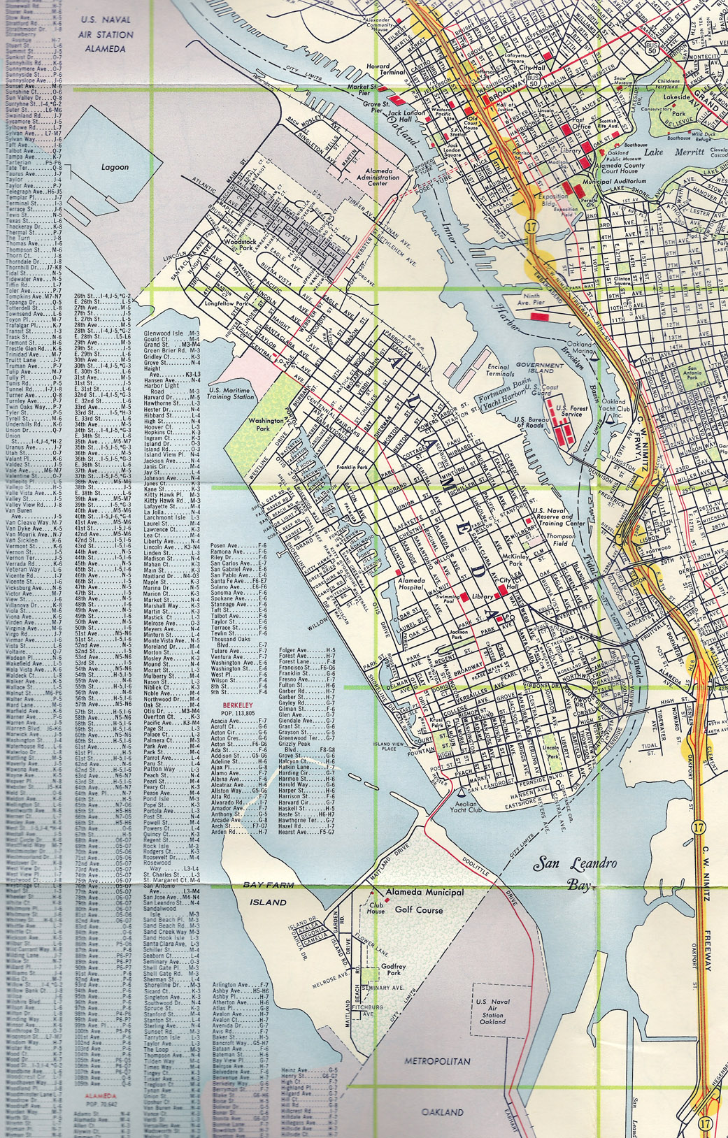 Alameda California Map Alameda, California, 1960 old map – Alamedainfo Alameda California Map