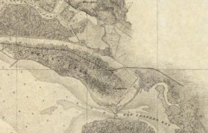 Map Showing Alameda, California, U. S. Coast Survey, 1859 - 05