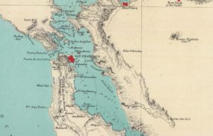 Map Showing Alameda, California by Henry Lange, 1854 - 02