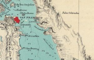 Map Showing Alameda, California by Henry Lange, 1854 - 03