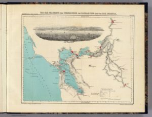 Map Showing Alameda, California by Henry Lange, 1854 - Full