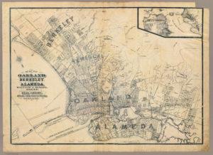 Map of Alameda, California, 1884