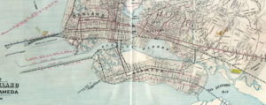 Map of the City of Oakland, Berkeley and Alameda, George Cram, 1908, 02