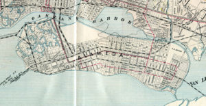 Map of the City of Oakland, Berkeley and Alameda, George Cram, 1908, 03