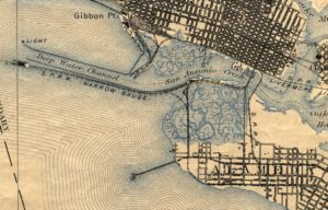 Map showing close up view of Alameda, California, West End, 1895