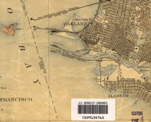 Map showing west end of Alameda, California - 1915