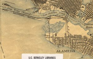 Map showing west end of Alameda, California, 1915