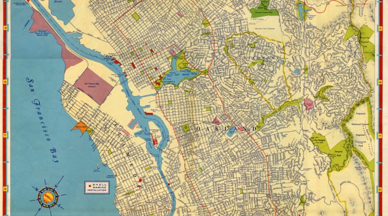 Shell, Street Map of East Bay Cities, Alameda, California, 1939