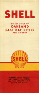 Shell Street Map of East Bay Cities, showing Alameda, California, 1957, cover