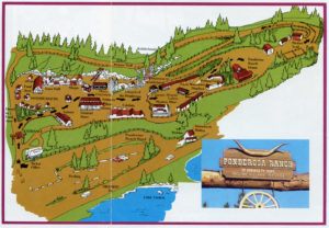 Ponderosa Ranch, of Bonanza TV Fame, Incline Village, Nevada, map