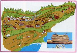 Ponderosa Ranch, of Bonanza TV Fame, Incline Village, Nevada, map
