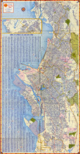 Map of Oakland and East Bay Cities, Shell 1951