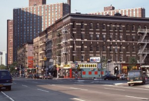 1st Ave. and E. 90th St. looking towards E. 91st St., August 1985