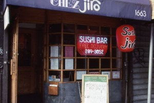 Chez Jiro, 1st Ave. between E. 86th St. and E. 87th St., NYC, Jan. 1989