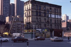 2nd Ave. and E. 96th St., looking towards E. 95th St., NYC, Jan. 1985