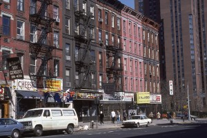 2nd Ave. near E. 89th St. looking towards E. 90th St., NYC , April 1986