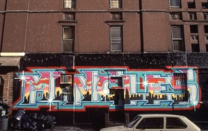 Mingles sign on E. 95th St. at 2nd Ave., Feb. 1989