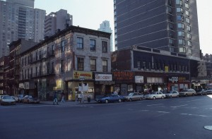 3rd Ave. and E. 87th St. looking towards E. 86th St., Feb. 1989