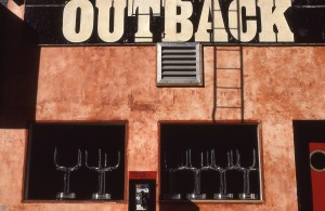 OUTBACK on 3rd Ave., between E. 93rd St. and E. 94th St., NYC, Feb. 1989