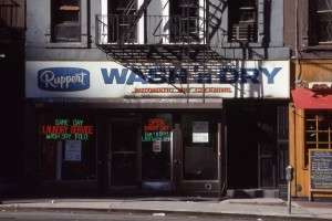 Ruppert Wash n Dry, 3rd Ave. between E. 93rd St. and E. 94th St., NYC, Feb. 1989