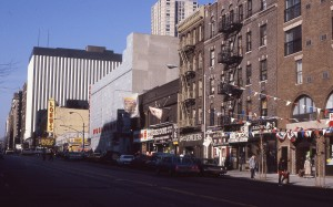 E. 86th Street between 2nd Ave. and 3rd Ave. looking towards Lexington Ave., NYC, January 1985