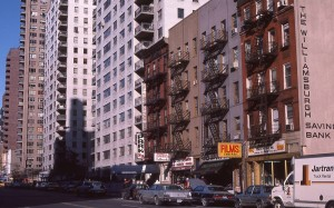 E. 86th Street, between 1st and 2nd Ave., NYC January 1985
