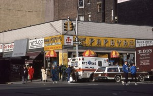 Papaya King, E. 86th St. and 3rd Ave., NYC, January 1989