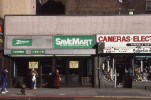 Save Mart on E. 86th St., between 3rd Ave. and Lexington Ave., January 1989