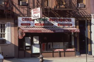 Shirell Cards, 333 E. 86th Street, NYC, August 1985