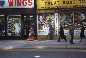 WINGS and TREAT BOUTIQUE, E. 86th St., NYC, January 1989