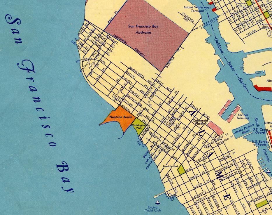 Alameda California 1908 old map Alamedainfo