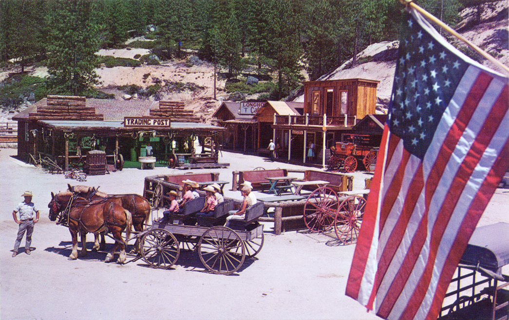Town And Country Auto >> Ponderosa Ranch, Lake Tahoe, old postcards, brochures ...