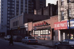 SLOAN'S Super Market on York Ave, between E. 86th St. and E. 87th St., NYC, January 1985