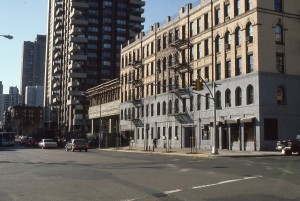 York Ave, from E. 91st looking towards E. 86th St., NYC, April 1986