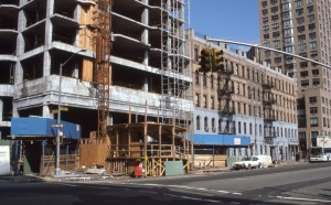 York Ave. and  E. 90th St., looking towards E. 91st St., NYC, April 1986