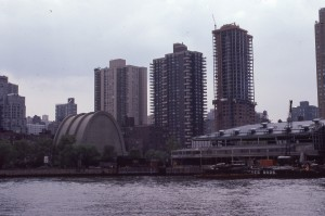 York Ave. from E. 86th St. to E. 91st  St. seen from the East River, June 1986