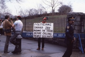 Guardian Angels protesting at Gracie Mansion, January 1985