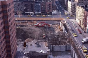 3rd Ave between E 93rd St and E 94th St, NYC, January 1985