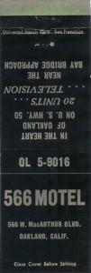 566 Motel, 566 W. MacArthur Blvd., Oakland, California
