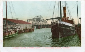 A Harbor View and Southern Pacific R. R. Drawbridge, Oakland, California