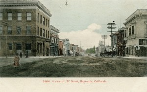 A View of B Street, Hayward, California