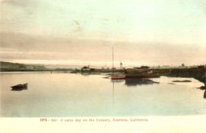 A calm day on the Estuary, Alameda, California